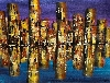 Skyline in Acryl von Conny Lehmann
