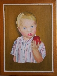 the boy with Apple